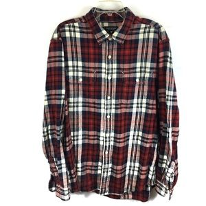 A8 American Eagle Heavy Flannel Button Shirt XLT